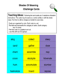 Shades of Meaning Challenge Cards