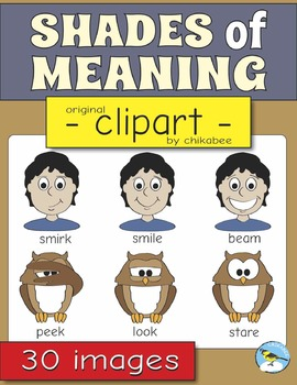 Shades of Meaning Clip Art (verbs/action words)