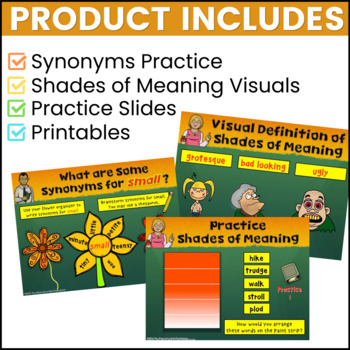 Shades of Meaning Vocabulary Lessons Starter Bundle