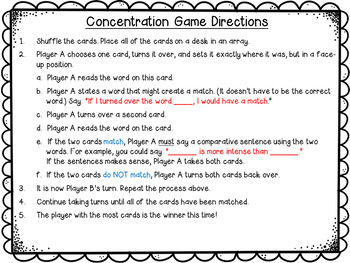 Shades of Meaning Concentration Game