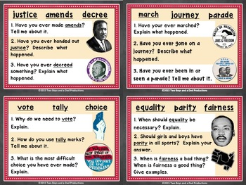 Shades of Meaning Discussion Cards Martin Luther King Jr Version