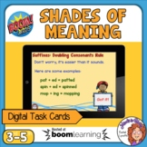 Shades of Meaning Drag and Drop Digital Boom Cards! Distan