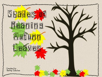 Shades of Meaning Fall Leaves (individually, bundled or MEGAPACK with FREE item)