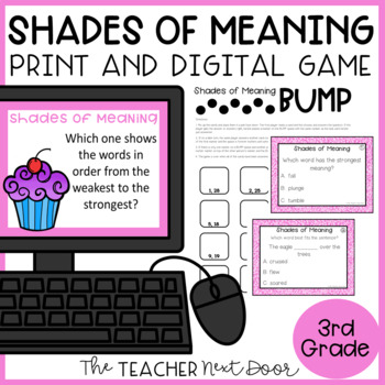 Shades of Meaning Game   Shades of Meaning Center   Shades of Meaning Activities