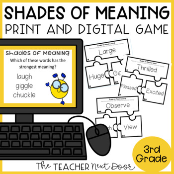 Shades of Meaning Game | Shades of Meaning Center | Vocabulary Activities
