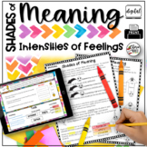 Shades of Meaning 3rd Grade (Intensities of Character Feel
