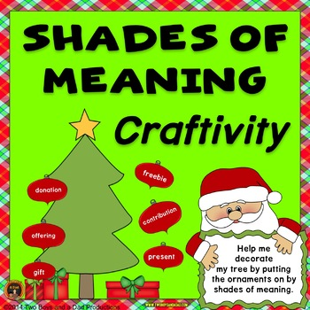 Christmas Tree Meaning.Shades Of Meaning With Christmas Words Craftivity