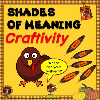 Shades of Meaning with Thanksgiving Words Craftvity