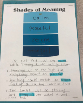 Shades of Meaning Notes & Activity