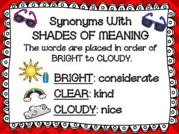 SHADES OF MEANING PACK--Posters--Activities--Fable--Fable Activity