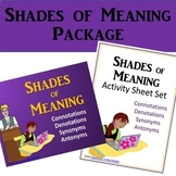 Connotations, Denotations, Synonyms, Antonyms - Shades of Meaning Package