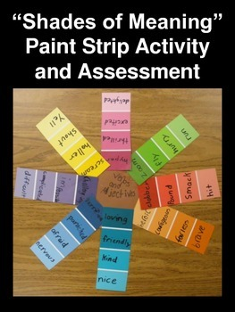 """Shades of Meaning"" Paint Strip Activity and Assessment (S"