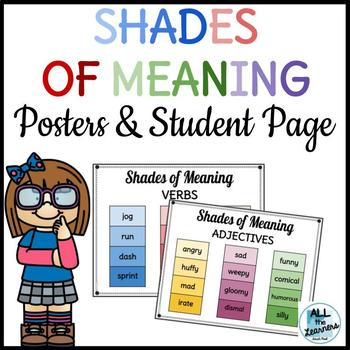 Shades of Meaning Posters & Student Page (Common Core Aligned)