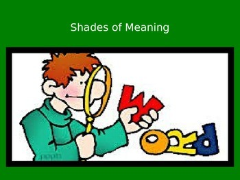 Shades of Meaning PowerPoint