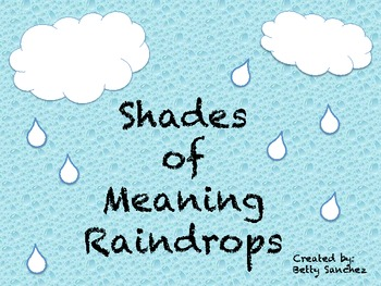 Shades of Meaning Rain (sold individually, bundled or MEGAPACK with FREE item)