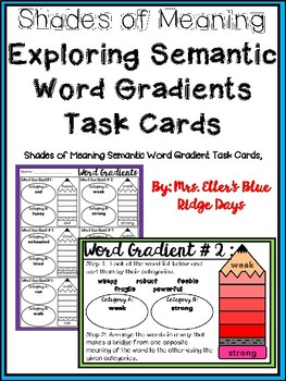 Shades of Meaning Semantic Gradient Task Cards  (Word Gradients)
