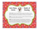 Shades of Meaning - Snow Many Shades - CCSS L.1.5d