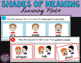 Shades of Meaning Sorting Mats | Synonyms