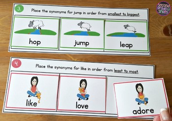 Shades of Meaning Sorting Mats   Synonyms