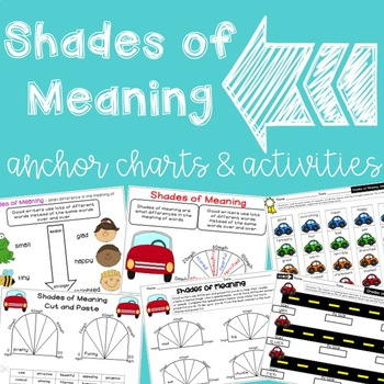Shades of Meaning Speedometer Activities