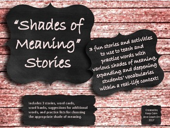Shades of Meaning Stories