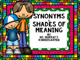 Shades of Meaning Synonyms Pack