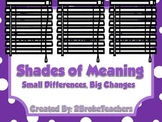 Shades of Meaning Synonyms and Connotations Mini Lesson PowerPoint