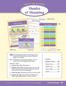 Shades of Meaning (Take It to Your Seat Centers: Common Core Language)