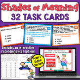 Shades of Meaning Task Cards (2nd and 3rd grade)