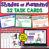 Shades of Meaning Task Cards (4th-6th)