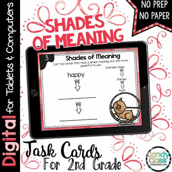 Shades of Meaning Digital Task Cards - Paperless Option