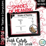 Shades of Meaning Task Cards: 2nd Grade Vocabulary for Google Classroom Use