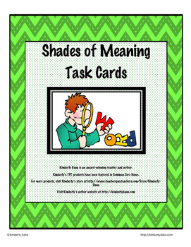 Shades of Meaning Teach and Reach Bundle