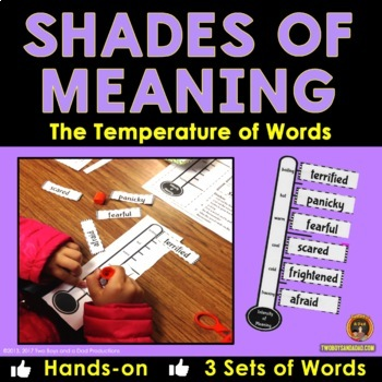 Shades of Meaning Vocabulary Practice With the Temperature of Words