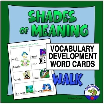 Shades of Meaning Verb Cards - WALK