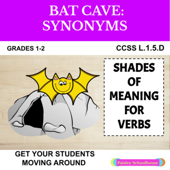 Shades of Meaning and Synonyms: Verbs - Bat Theme