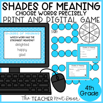Shades of Meaning Words Game | Choosing Words Precisely Center Activity