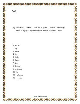 Shades of Meaning Worksheet