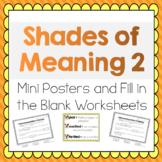 Shades of Meaning for Verbs and Adjectives- 2nd Edition