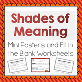 Shades of Meaning for Verbs and Adjectives- Meets Common Core Standard