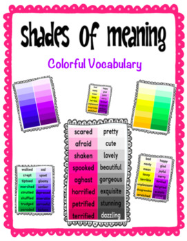 Shades of Meaning (vocabulary)