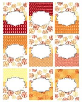 Shades of Orange Editable Binder