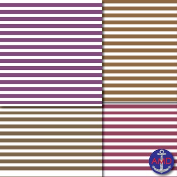 Shades of Purple & Brown Thin Striped Dig. Paper for TPT Product Covers & More