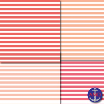 Shades of Red & Pink Thin Striped Digital Paper for TPT Product Covers & More