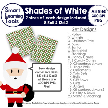 Shades of White Christmas Digital Papers