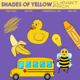 Shades of Yellow Clipart Pack