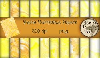 Shades of Yellow Hurricane Papers