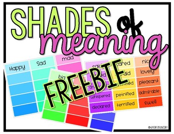Shades of meaning paint chips FREEBIE