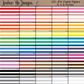 Shades of the Rainbow Paper Pack Bundle (100 pgs) for Bull