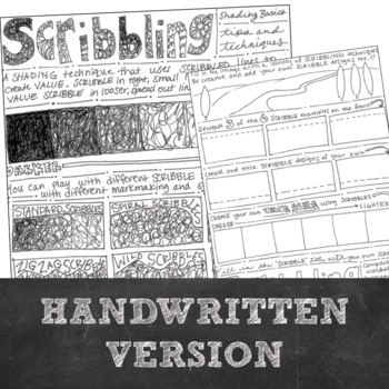 Shading Basics and Techniques: Visual Art Minilesson Using Scribble to Shade